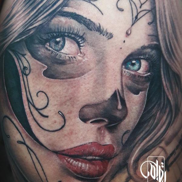tatuaje-catrina-cara