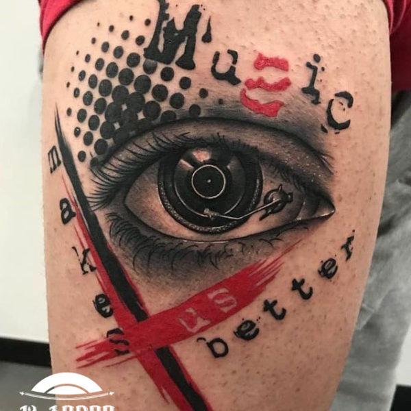 Tatuaje de música